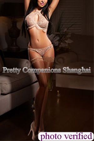 Busty long legs, long dark hair model escort Shanghai